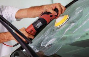 полировка стёкол автомобиля